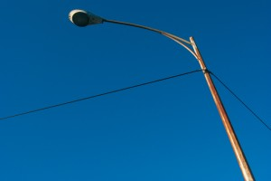 Rusty light post