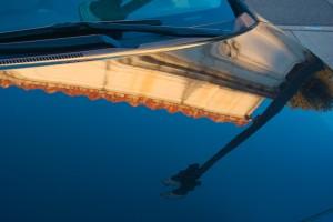 Image on hood of car
