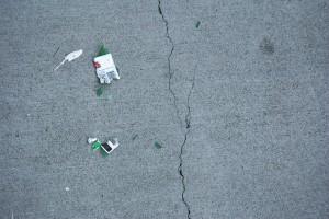 Broken beer bottle - color