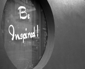 Be Inspired - Black and White